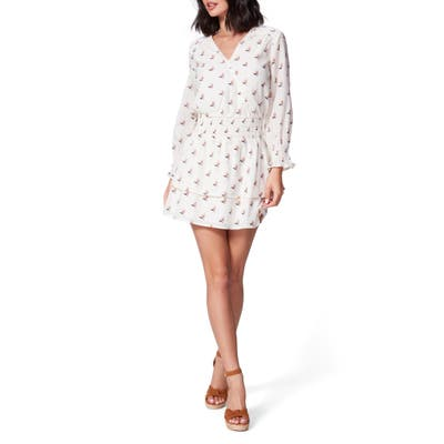 Paige Serrano Long Sleeve Fit & Flare Dress, White