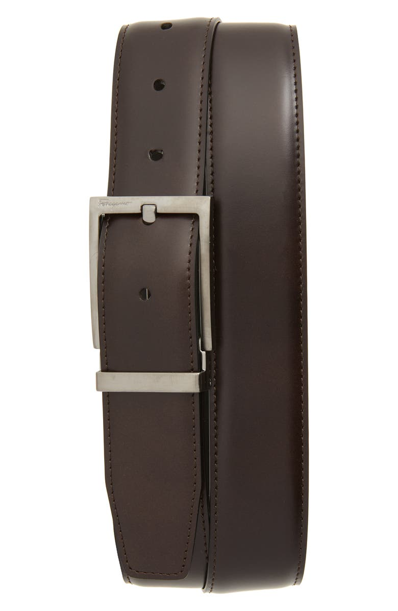 SALVATORE FERRAGAMO Reversible Leather Belt, Main, color, 200