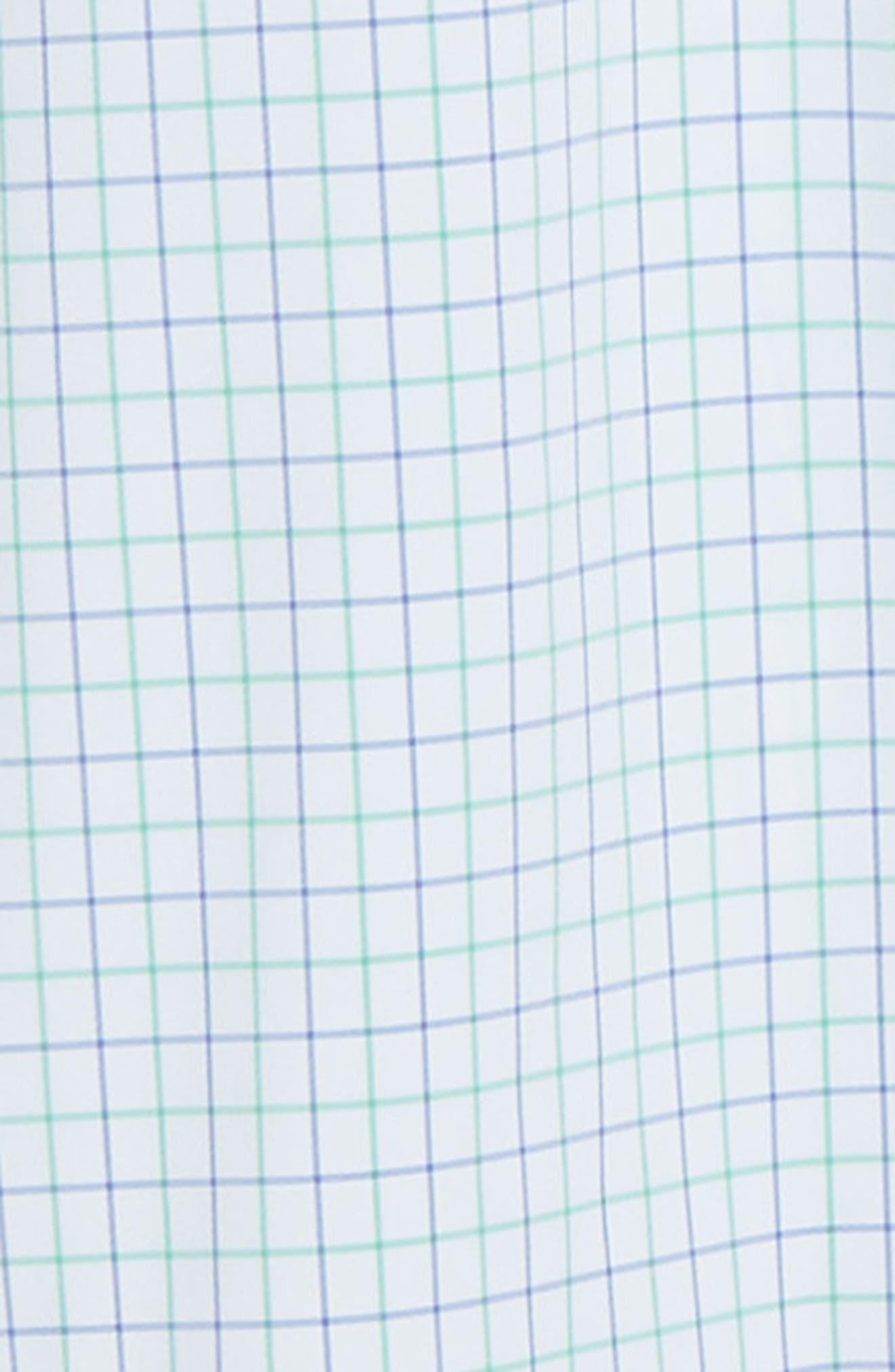 ,                             Hopkins Trim Fit Check Performance Sport Shirt,                             Alternate thumbnail 6, color,                             GREEN