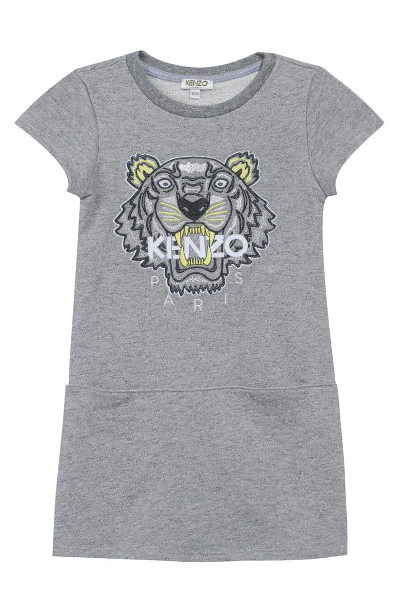 d9ceef03b1 KENZO Embroidered Tiger Logo T-Shirt Dress (Little Girls & Big Girls ...