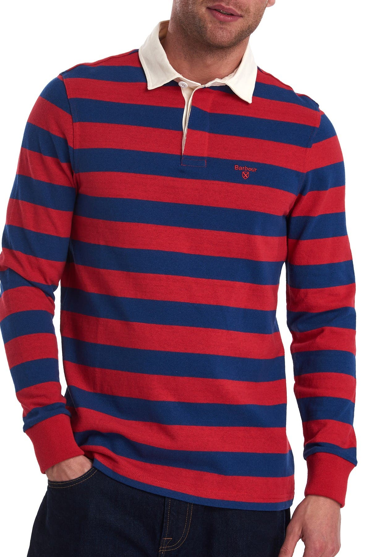 Thomas /& Friends Striped Long Sleeve Polo Rugby Top