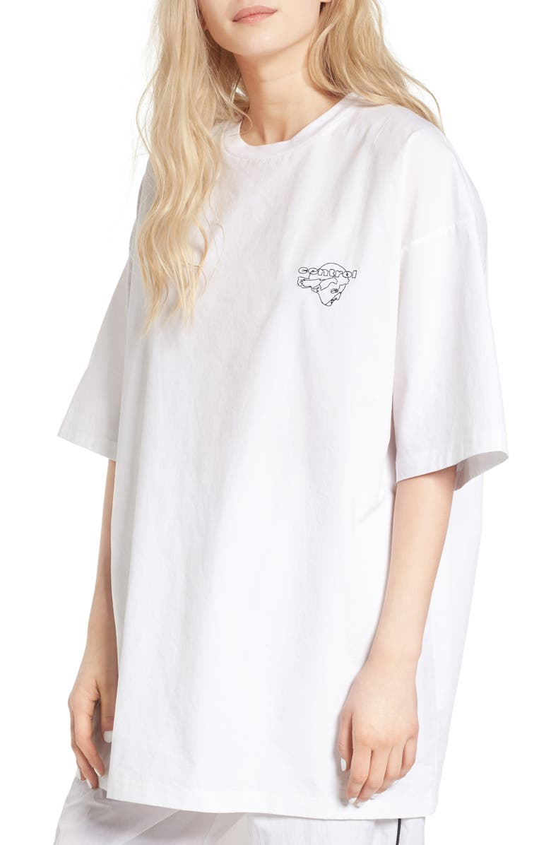 HYEIN SEO South of the Border Embroidered Tee, Main, color, 100