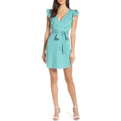 Bb Dakota Peppermint Stripe Minidress, Green