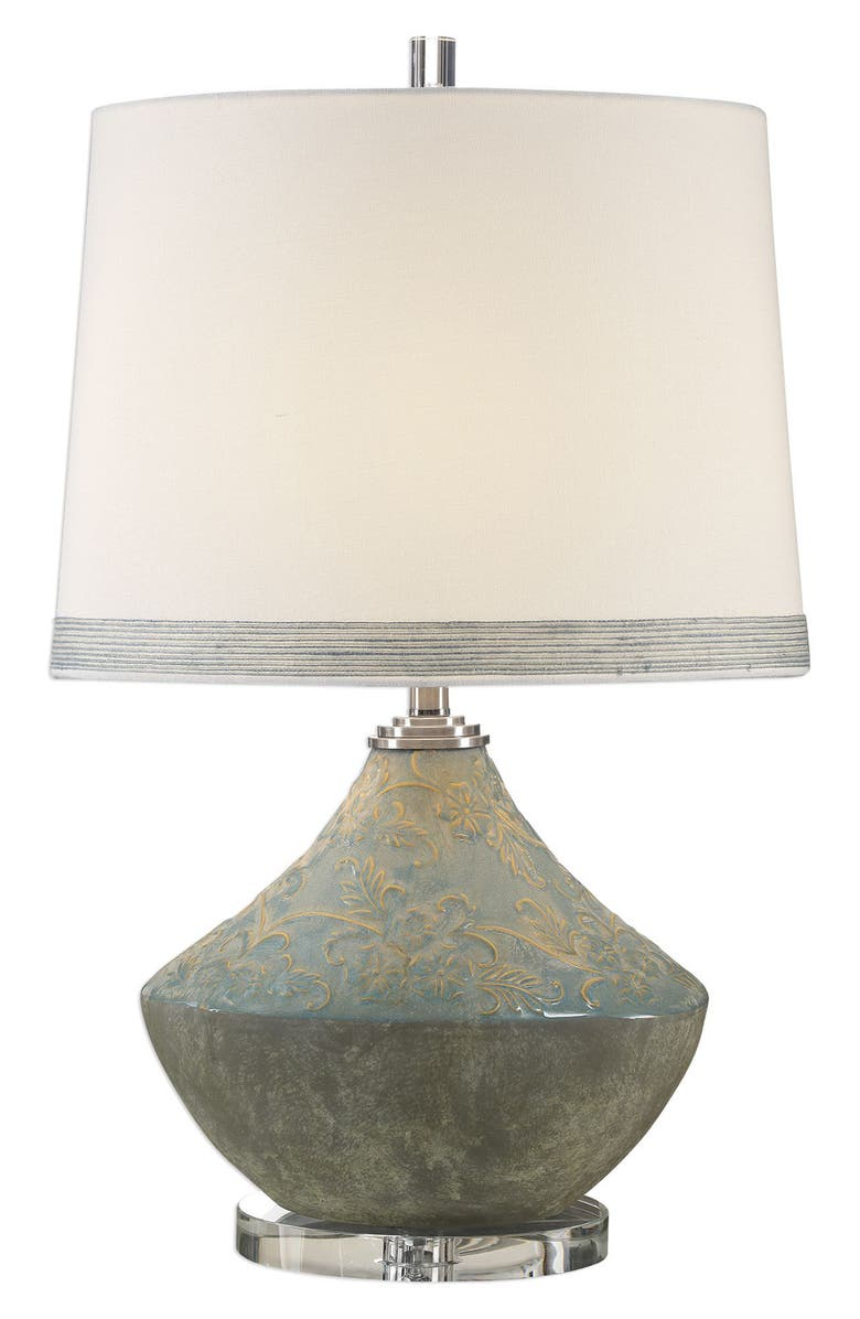 UTTERMOST Padova Aged Table Lamp, Main, color, LIGHT BLUE WITH GRAY