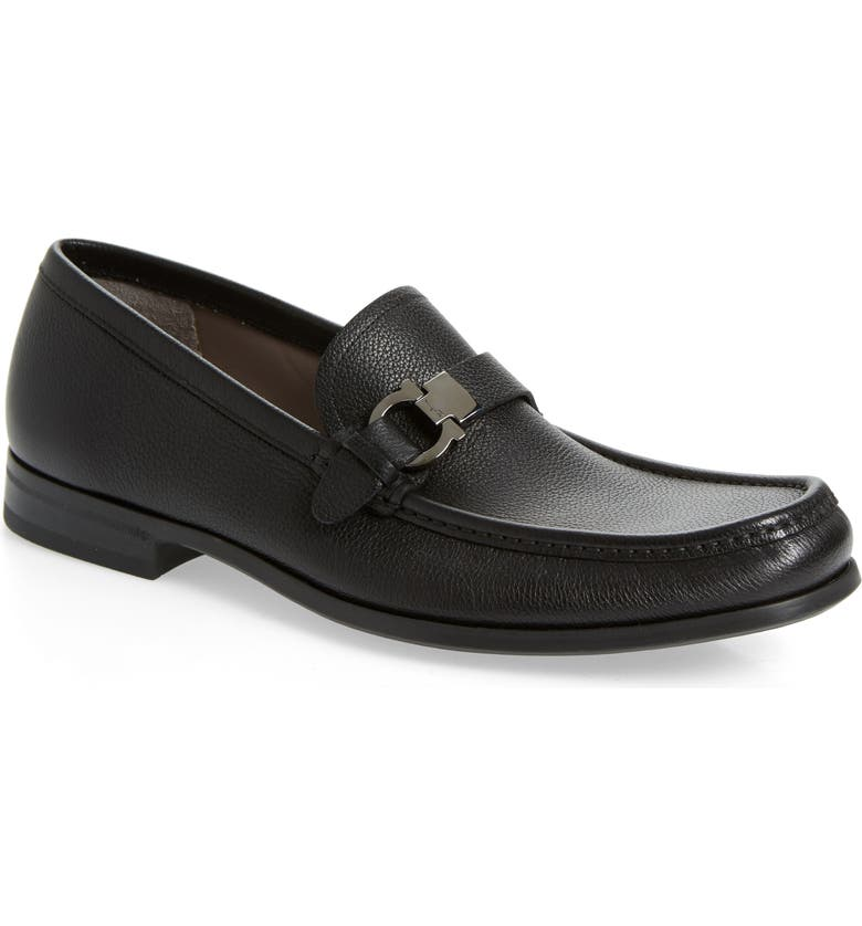 SALVATORE FERRAGAMO Adam Bit Loafer, Main, color, NERO