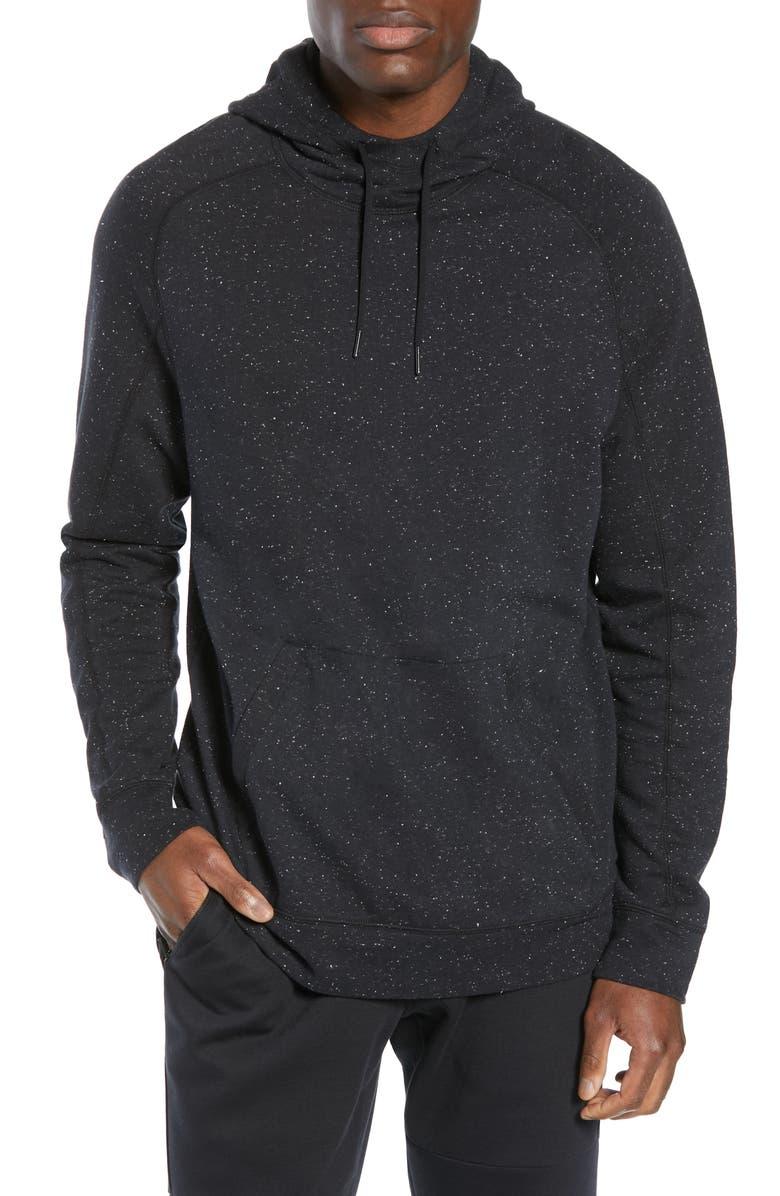 ZELLA Nep Texture Hoodie, Main, color, BLACK OXIDE NEP