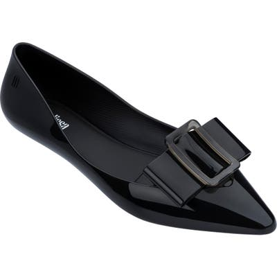 Melissa Pointy Iii Jelly Flat, Black