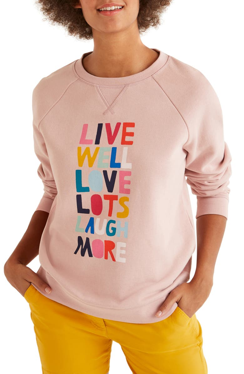 BODEN Live Well Graphic Sweatshirt, Main, color, 684