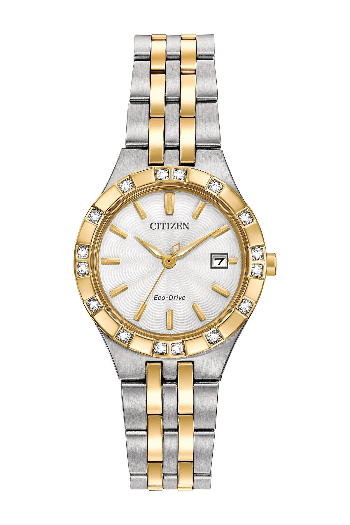 Image of Citizen Women's Eco-Drive Two-Tone Stainless Diamond Bracelet Watch, 27mm - 0.0053 ctw
