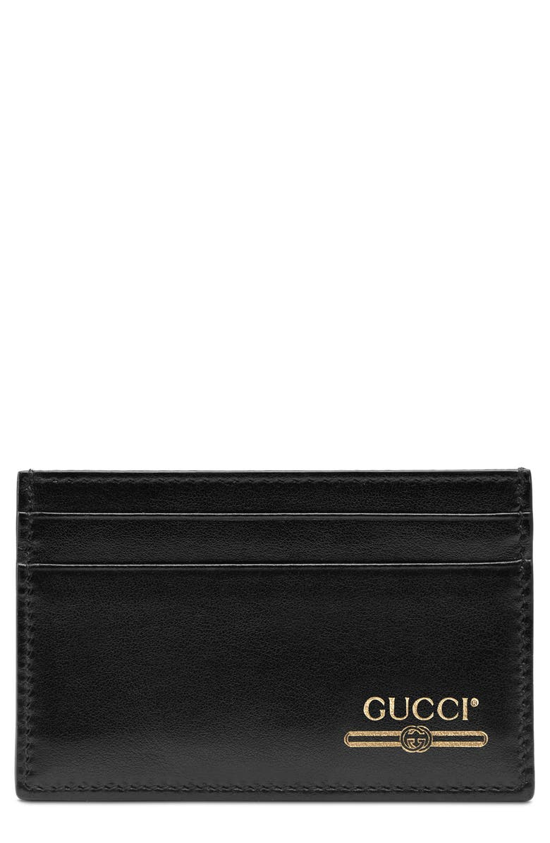 d8772ddef9 Gucci Logo Leather Card Case | Nordstrom