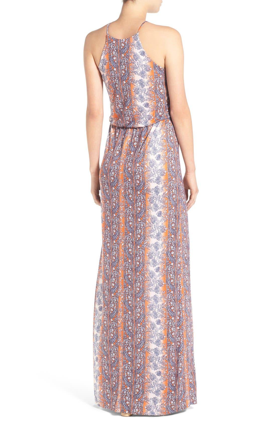 ,                             High Neck Maxi Dress,                             Alternate thumbnail 123, color,                             601
