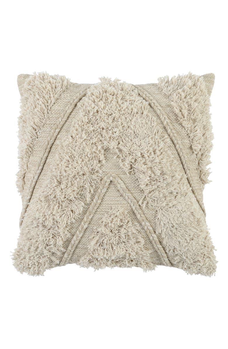 VILLA HOME COLLECTION Villa Home Sahara Accent Pillow, Main, color, NATURAL