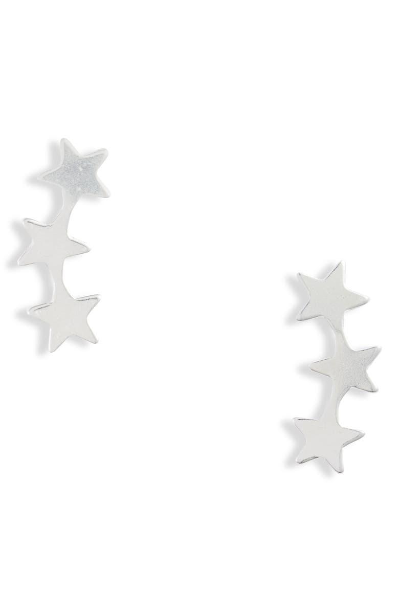 SET & STONES Nova Stud Earrings, Main, color, SILVER