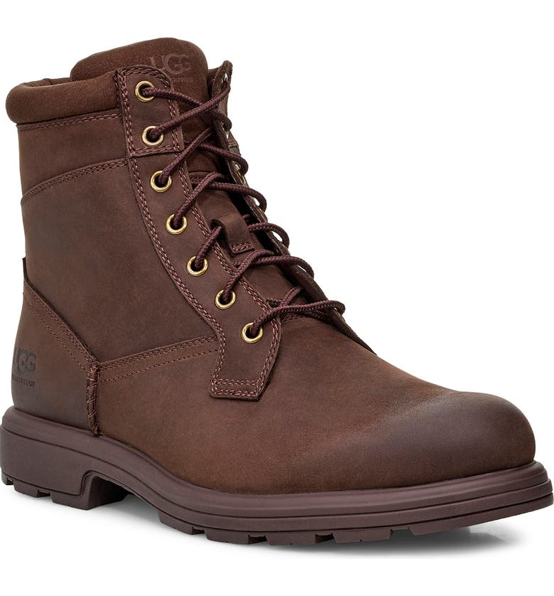 UGG<SUP>®</SUP> Biltmore Waterproof Plain Toe Boot, Main, color, STOUT