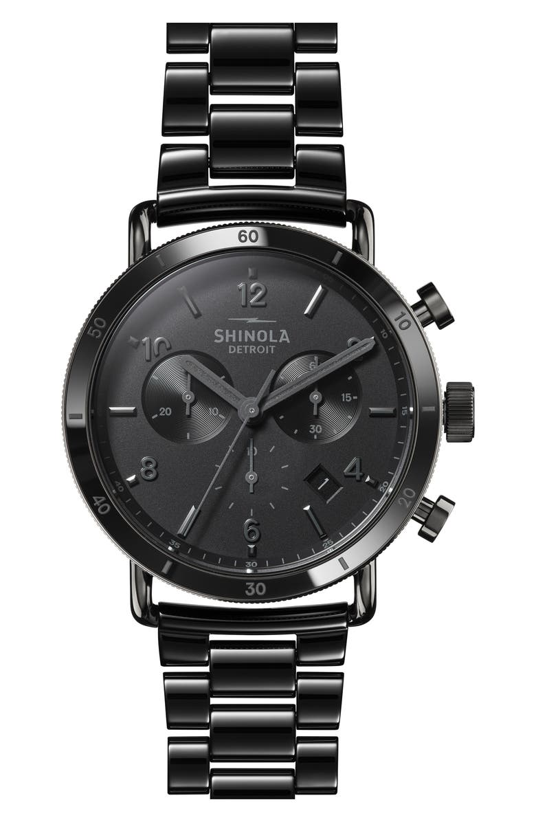 SHINOLA The Canfield Sport Chronograph Bracelet Watch, 40mm, Main, color, 001