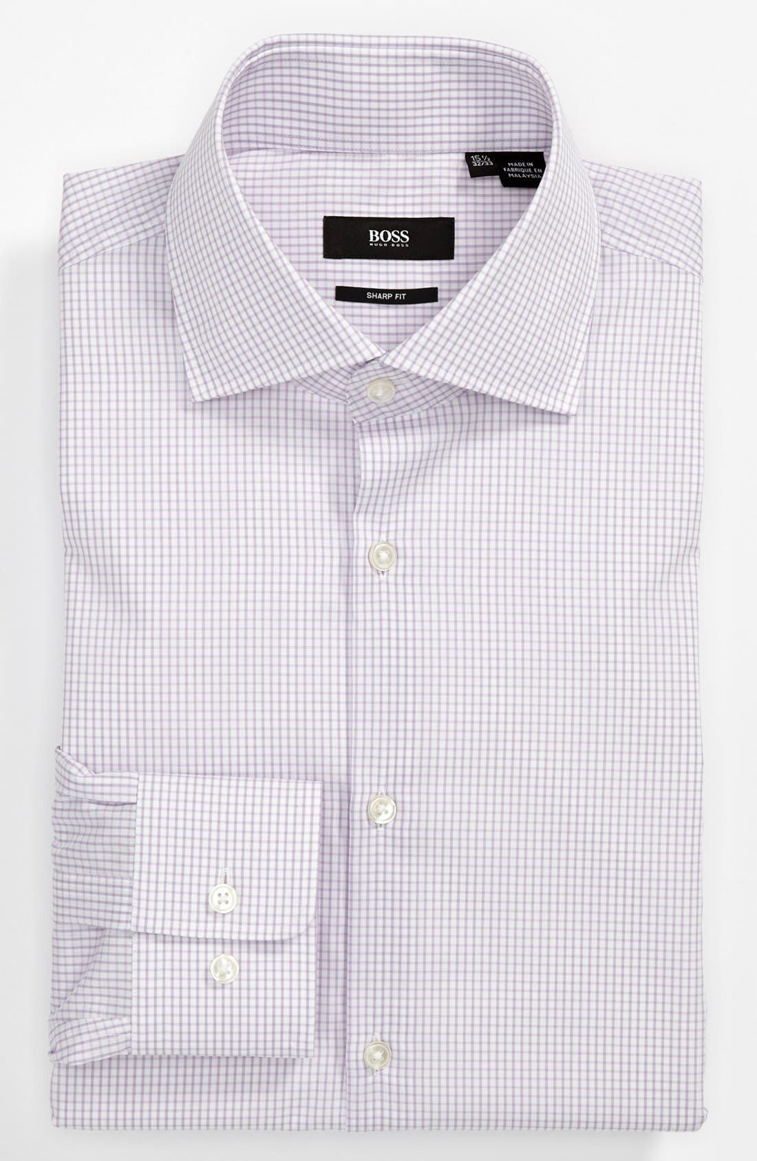 ,                             HUGO BOSS Sharp Fit Dress Shirt,                             Main thumbnail 3, color,                             521