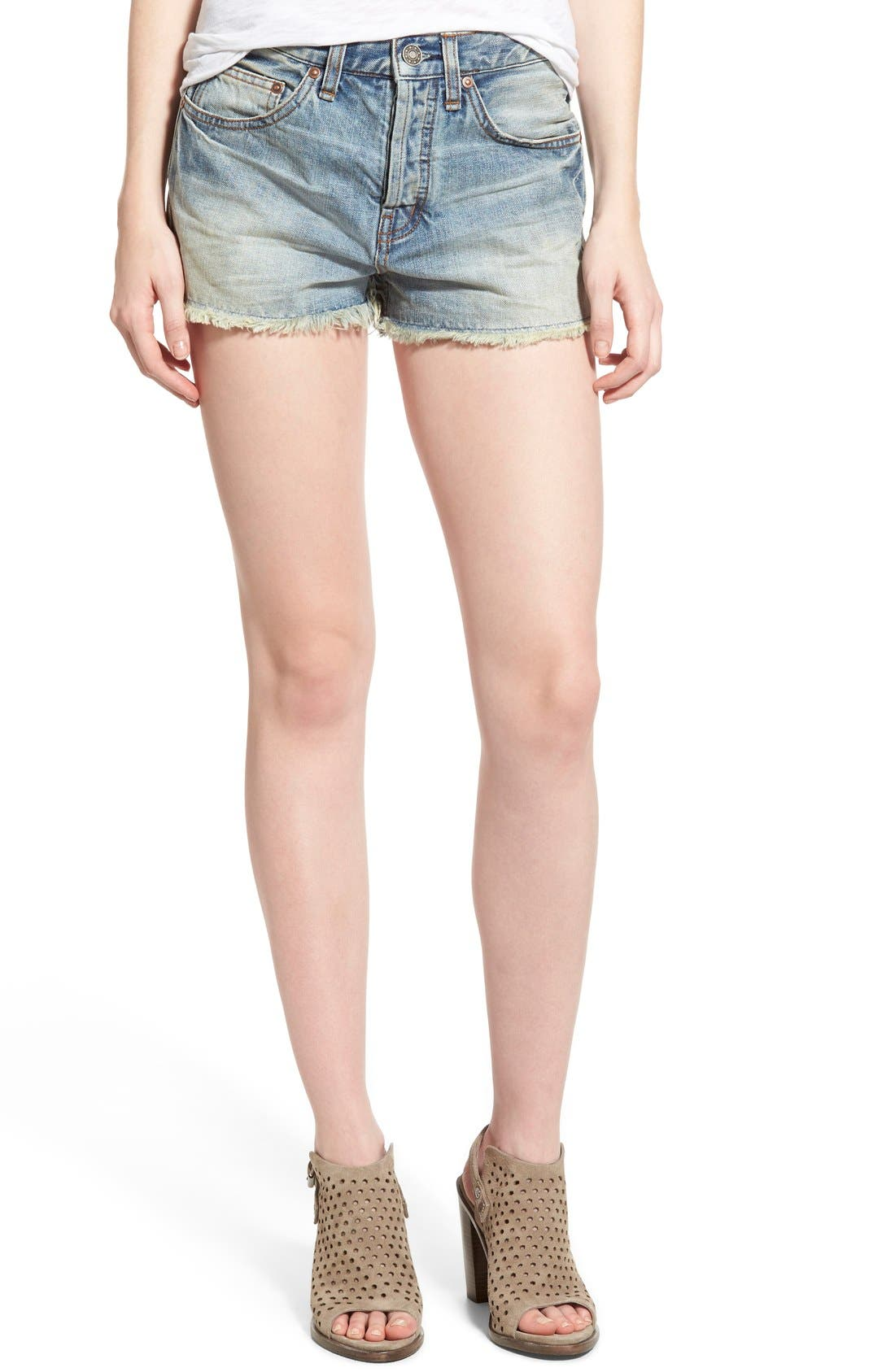 ,                             'Uptown' Denim Shorts,                             Main thumbnail 22, color,                             488