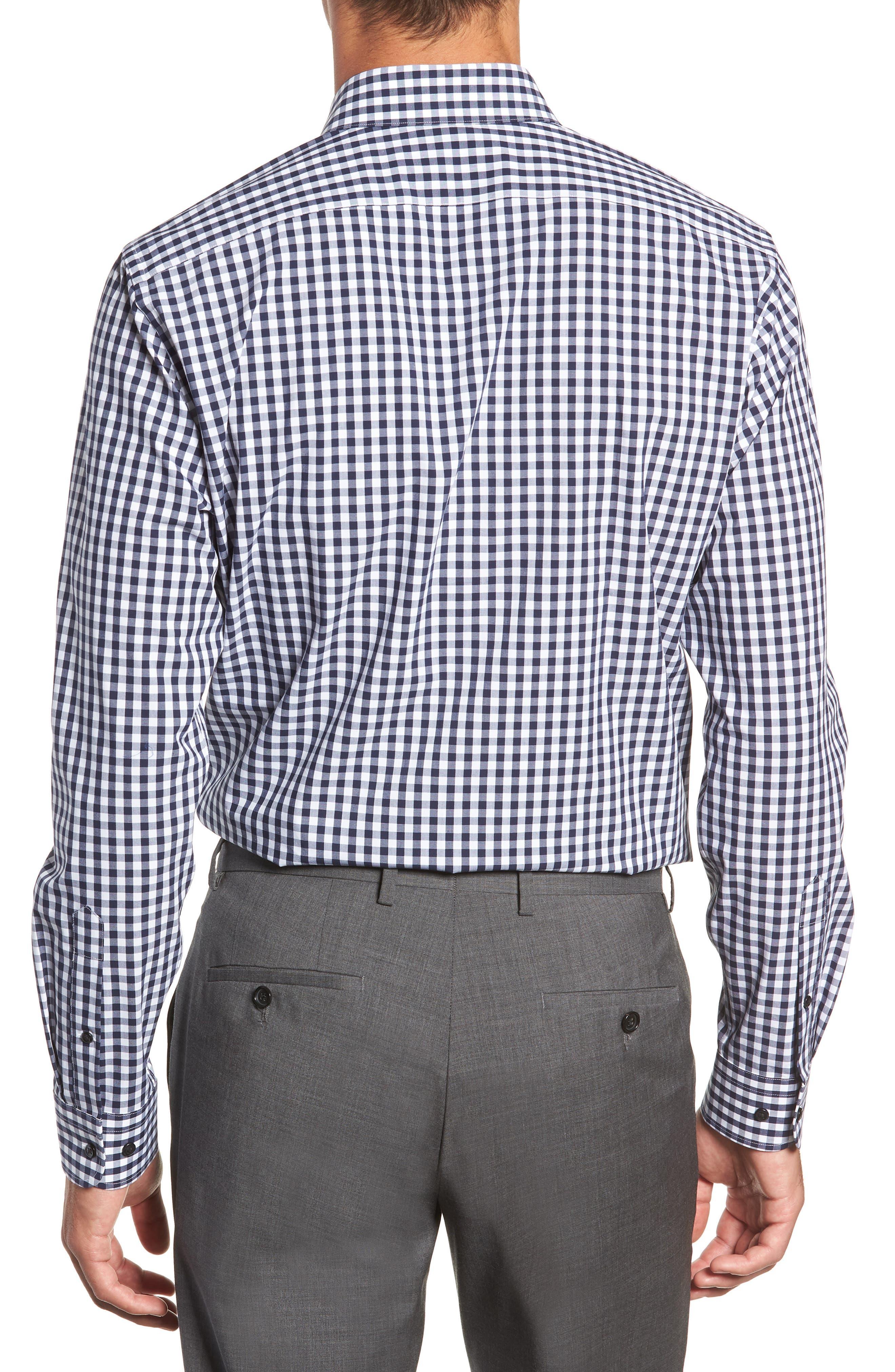 ,                             Tech-Smart Trim Fit Stretch Check Dress Shirt,                             Alternate thumbnail 17, color,                             401