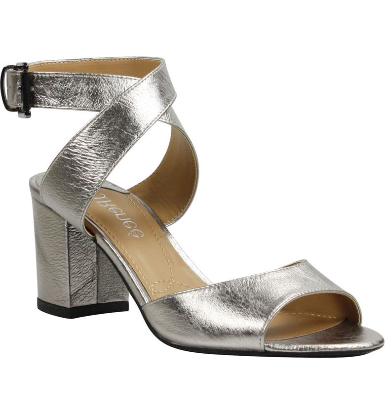 J. RENEÉ Drizella Ankle Strap Sandal, Main, color, TAUPE METALLIC LEATHER