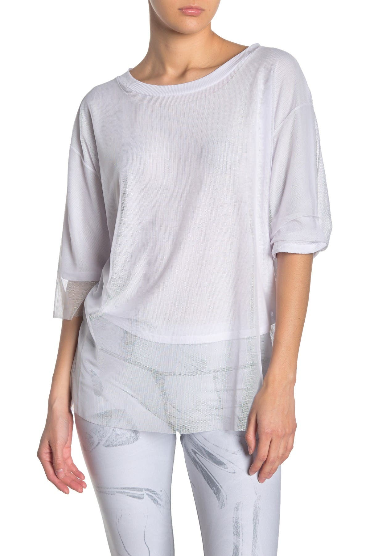 Image of Alo Layer-Up Mesh Overlay T-Shirt