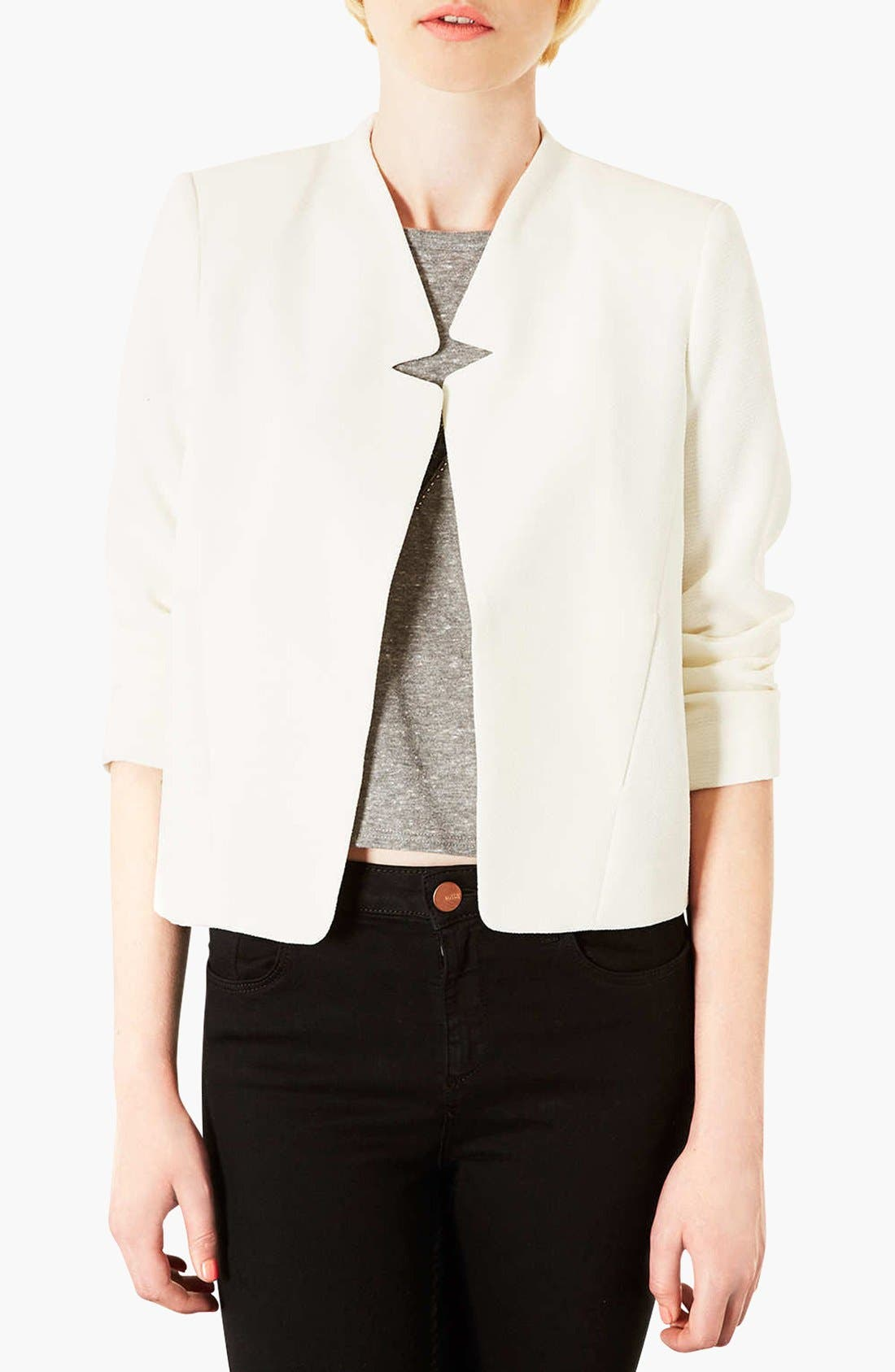 'Romeo' Crepe Jacket, Main, color, 100