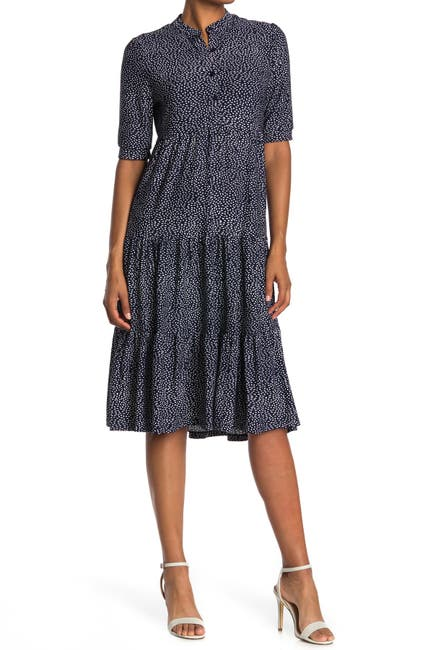 Image of Max Studio Floral Button Front Baby Doll Dress