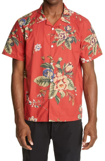 Image of OVADIA AND SONS Floral Beach Button Front Shirt