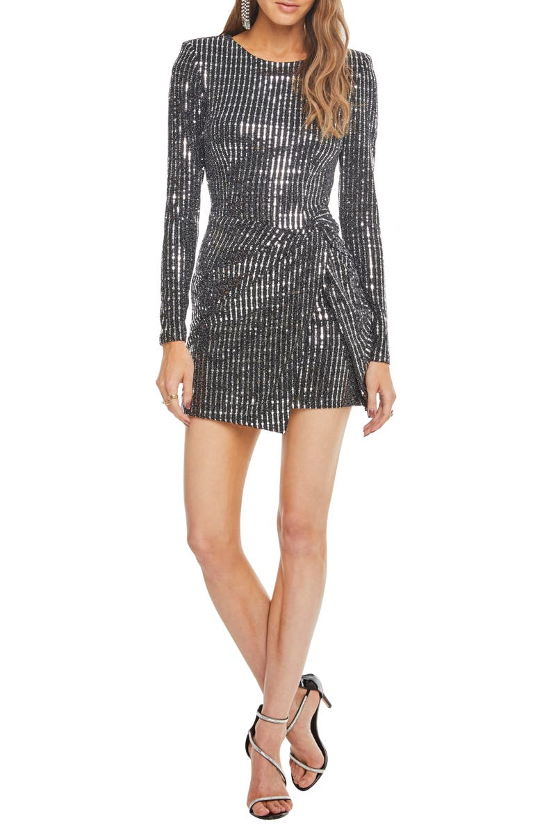 ASTR THE LABEL On the List Metallic Dress, Main, color, 040