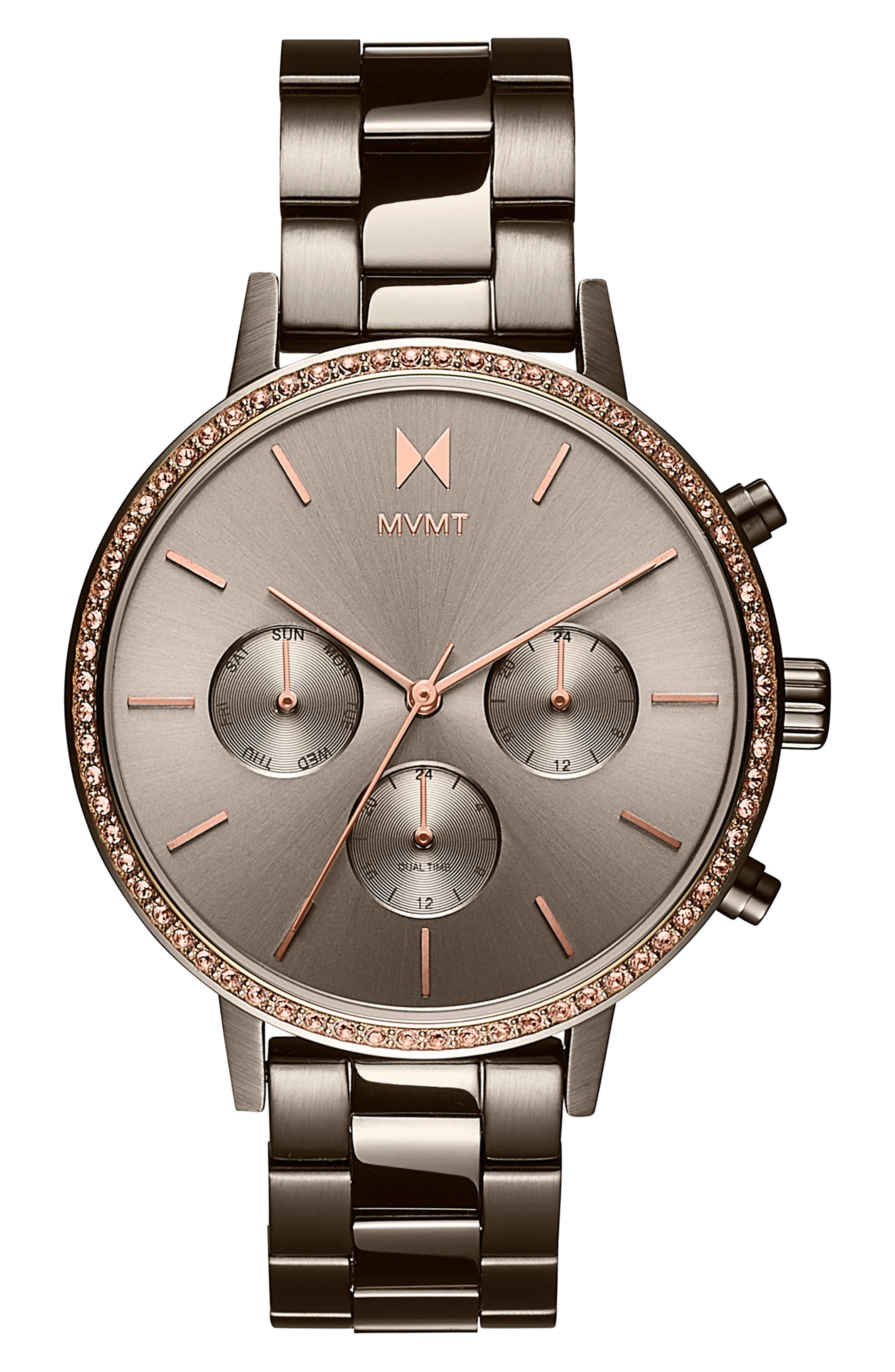 Crystal Nova Chronograph Bracelet Watch