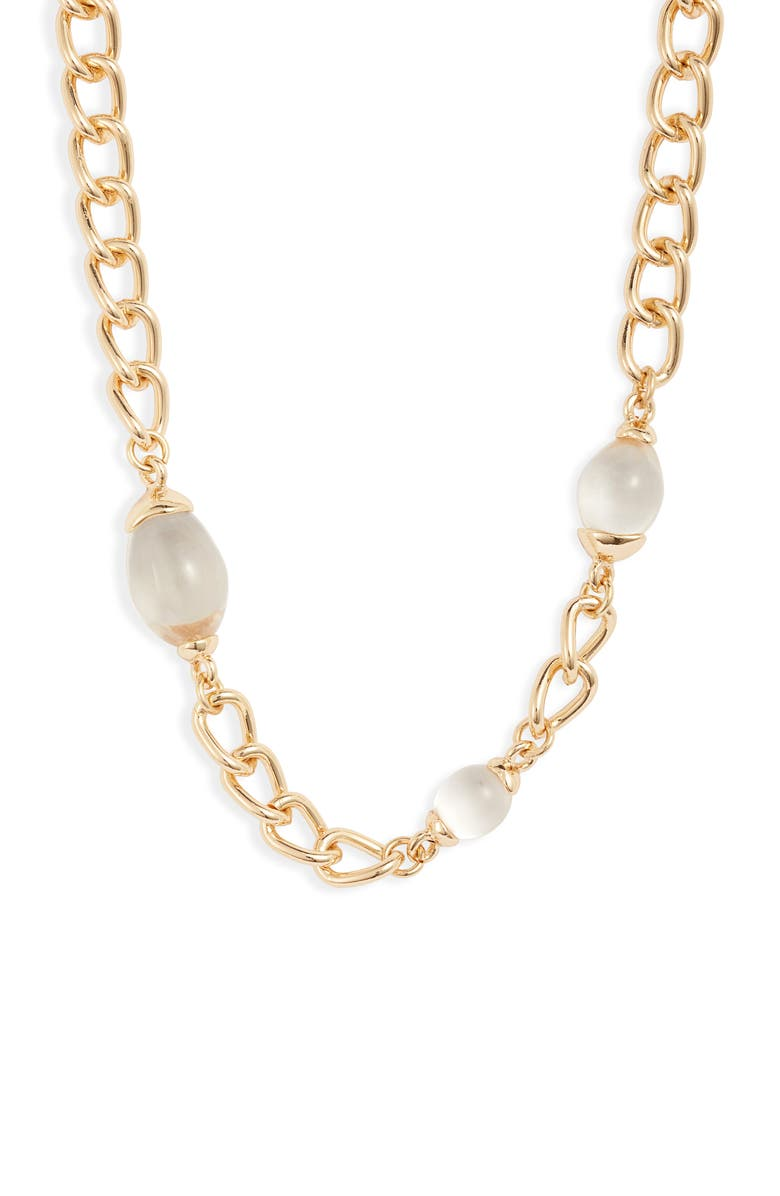 HALOGEN<SUP>®</SUP> Bead Chain Collar Necklace, Main, color, 710