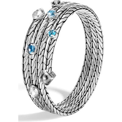 John Hardy Classic Chain Hammered Triple Row Coil Bracelet