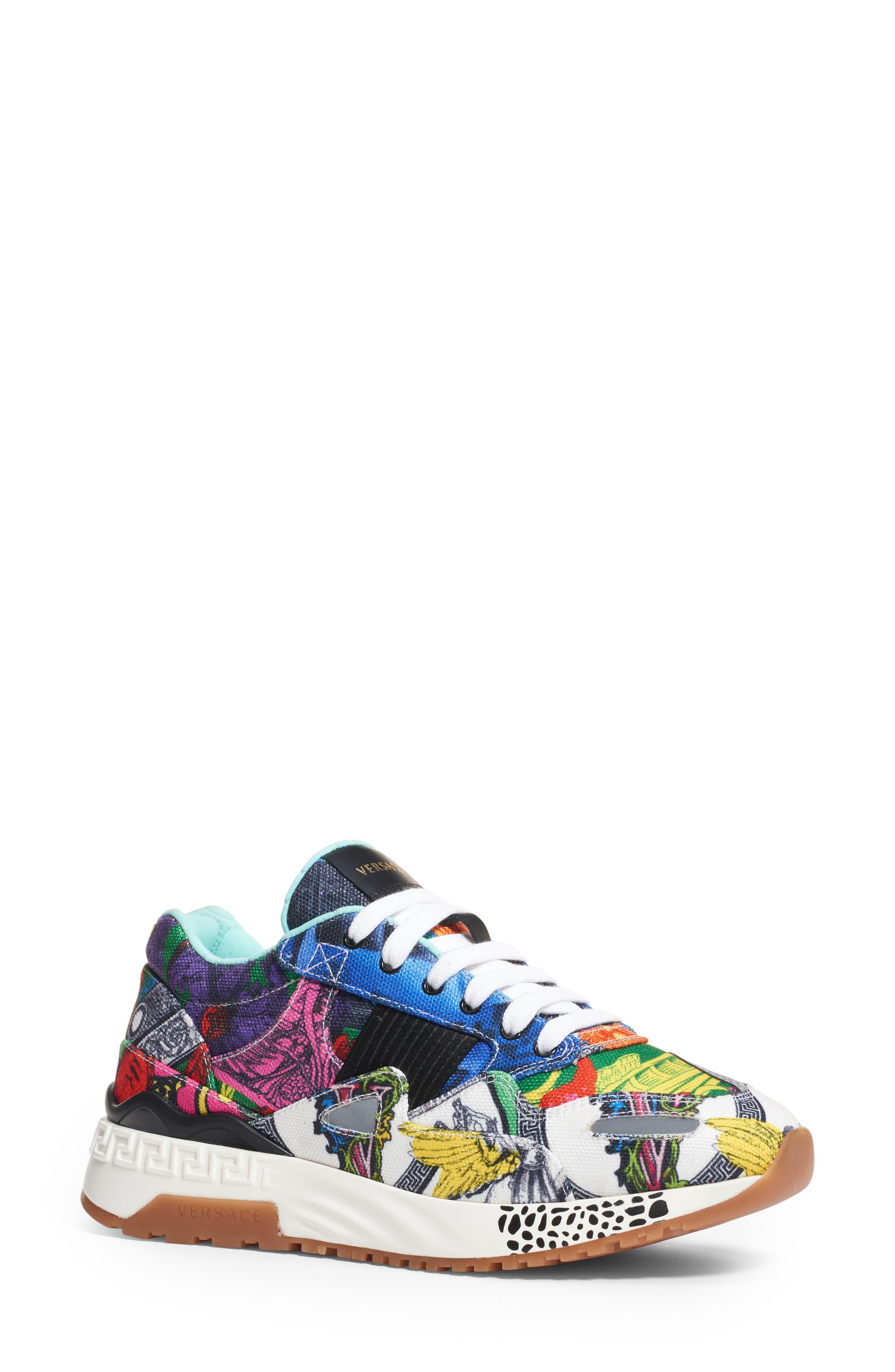 Multi Print Sneaker, Main, color, 400
