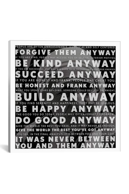 """Image of iCanvas Mother Teresa Quote by Unknown Artist Gallery Wrapped Canvas Print - 18"""" x 18"""" Wall Art"""