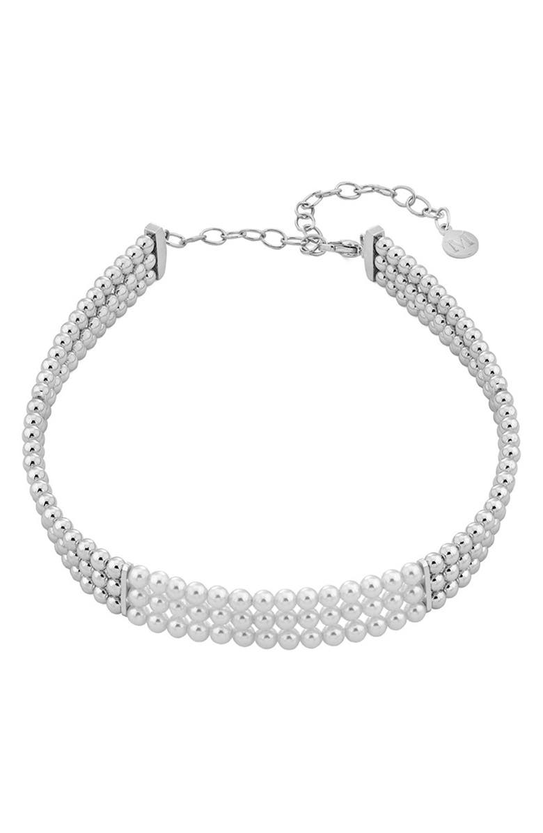 MAJORICA Simulated Pearl Necklace, Main, color, 100