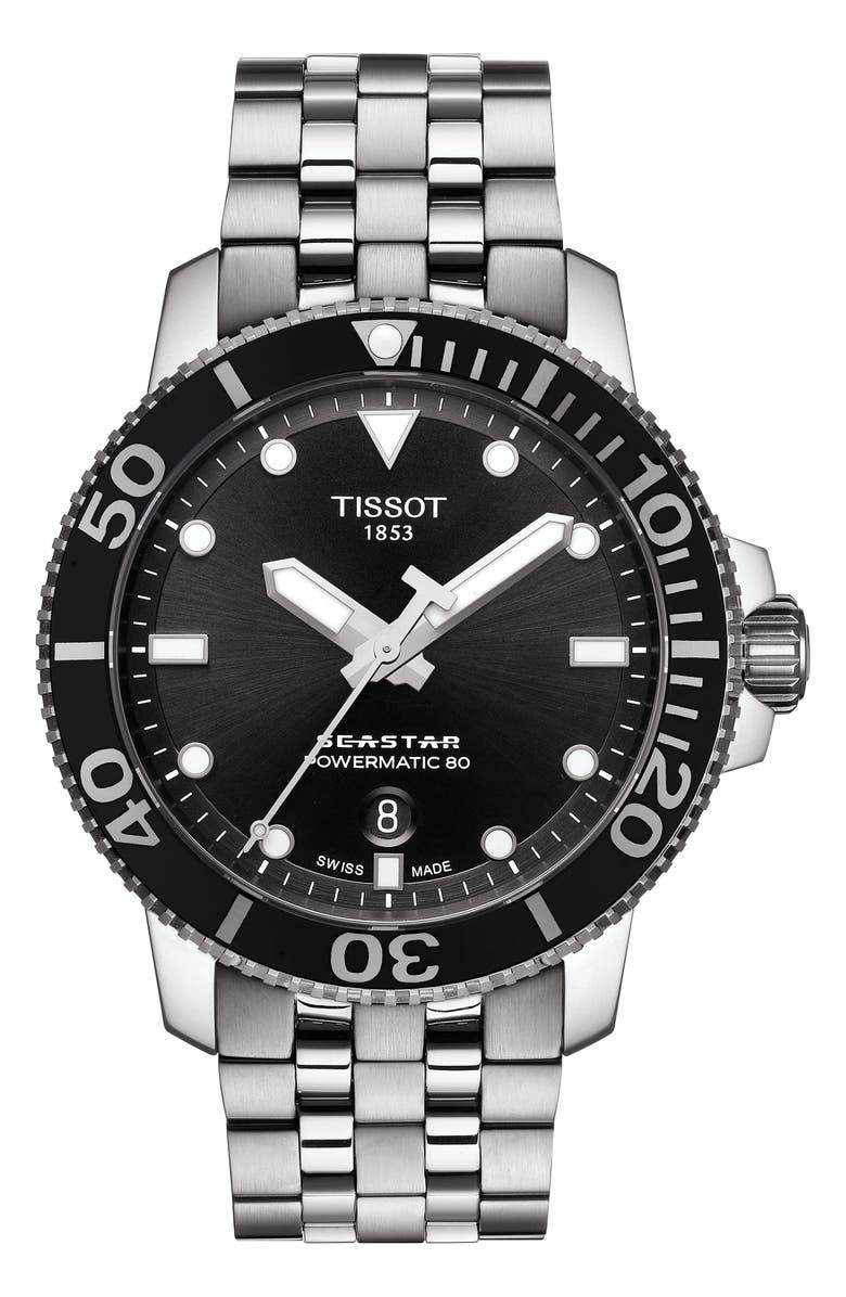 Tissot Seastar 1000 Powermatic 80 Bracelet Watch 43mm