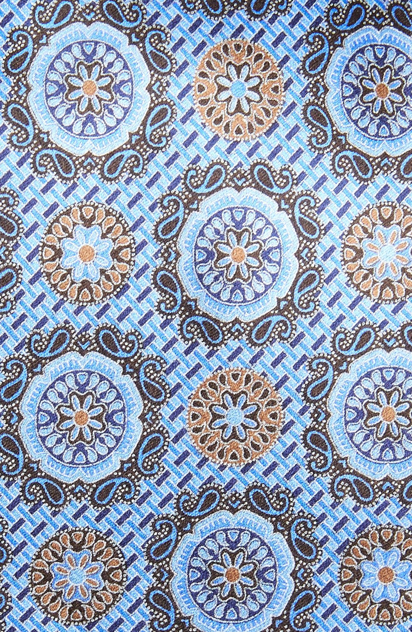 ,                             Medallion Silk Tie,                             Alternate thumbnail 2, color,                             BLUE