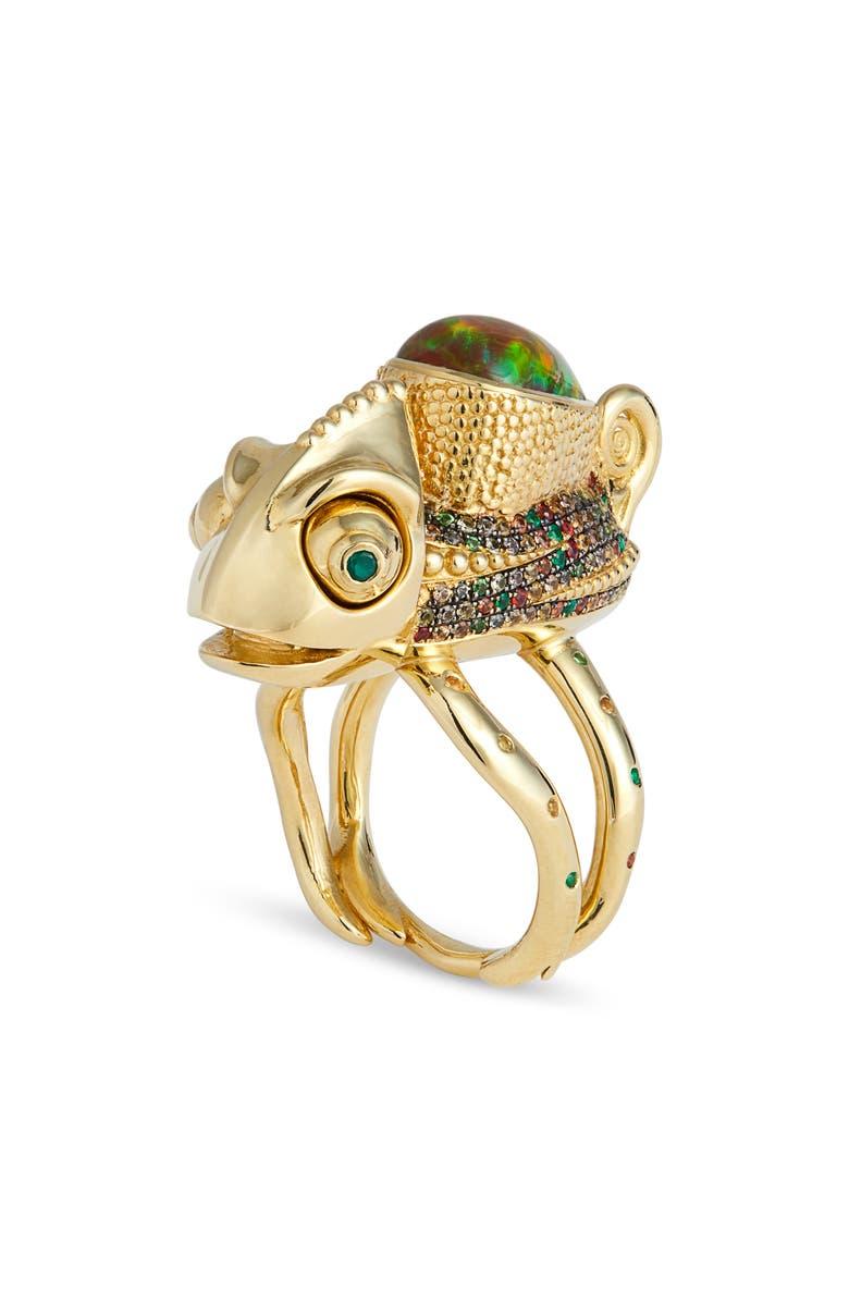 DANIELA VILLEGAS Beatrix Potter Ring, Main, color, YELLOW GOLD