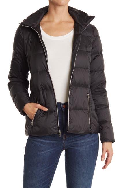 Image of Lucky Brand Hooded Lightweight Zip Puffer Jacket