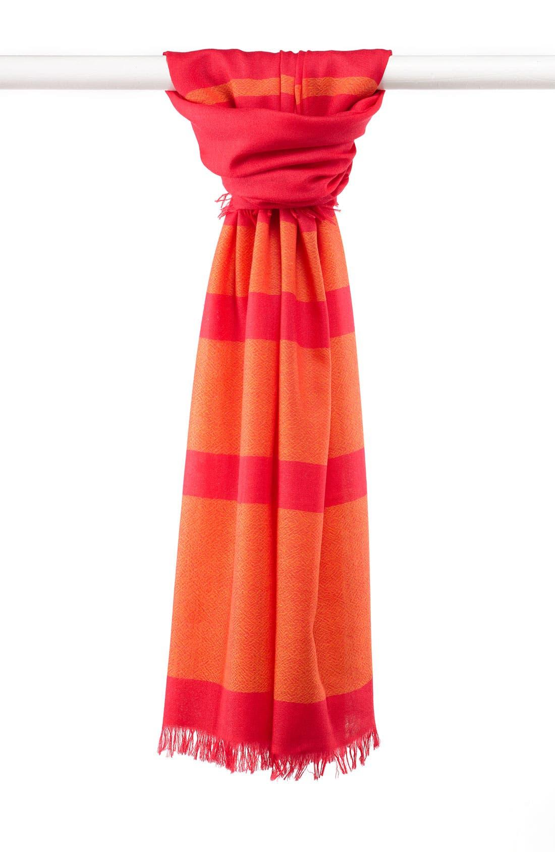 ,                             'Eyelash' Colorblock Cashmere Wrap,                             Main thumbnail 119, color,                             956