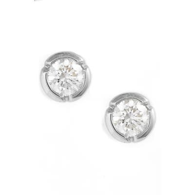 Bony Levy Medium Bezel Diamond Stud Earrings (Nordstrom Exclusive)