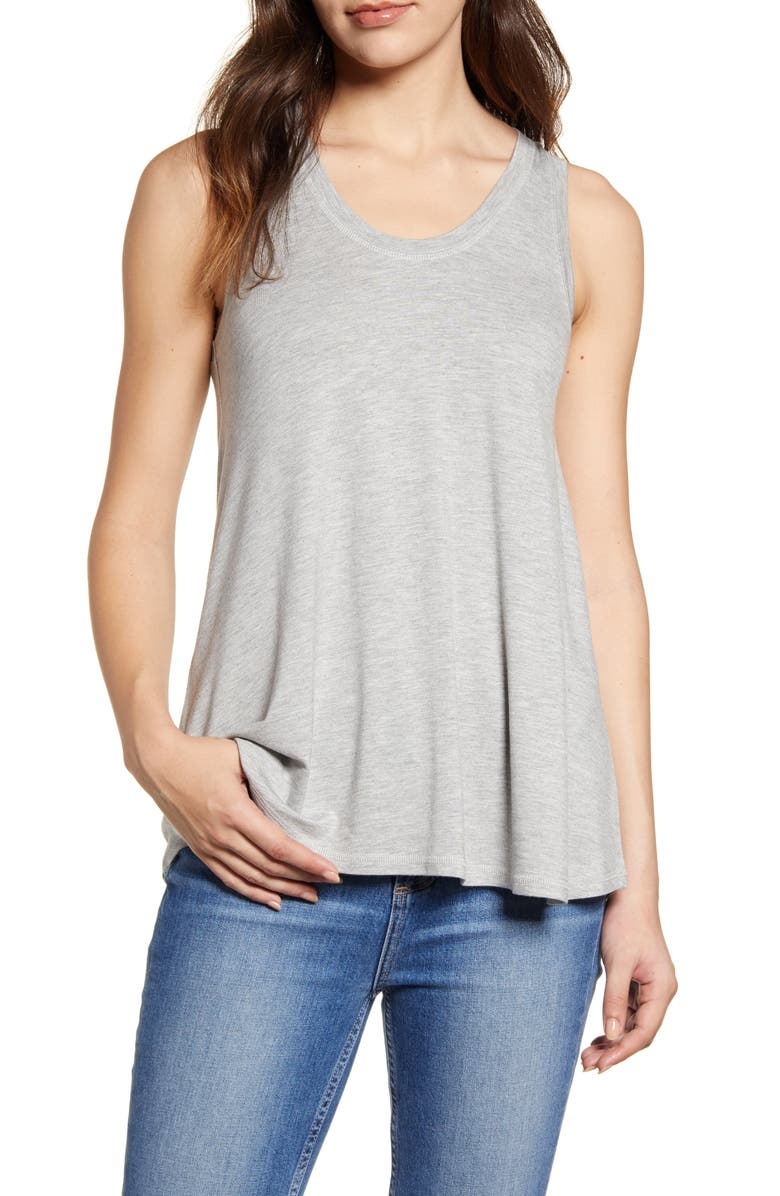 CASLON<SUP>®</SUP> Off-Duty Swing Tank, Main, color, GREY HEATHER