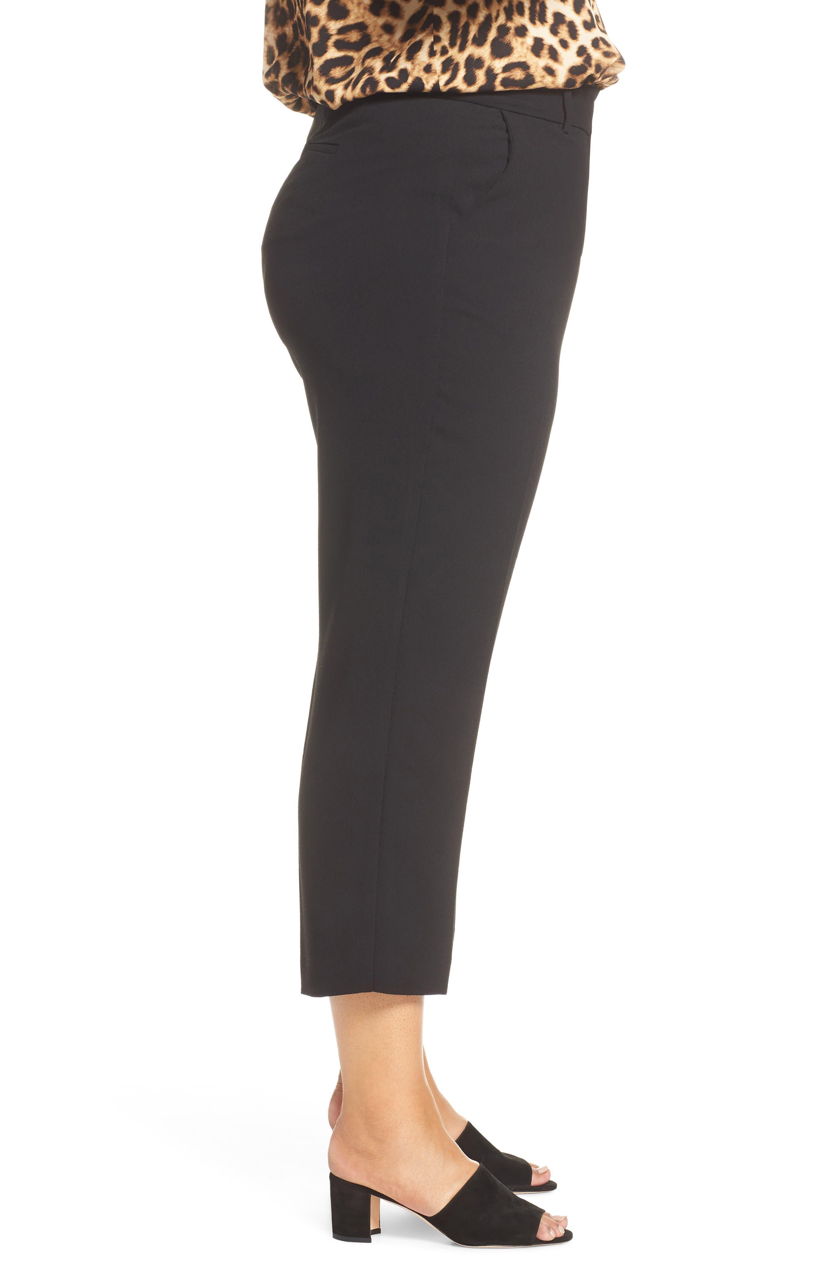 ,                             Parisian Crepe Trousers,                             Alternate thumbnail 4, color,                             RICH BLACK
