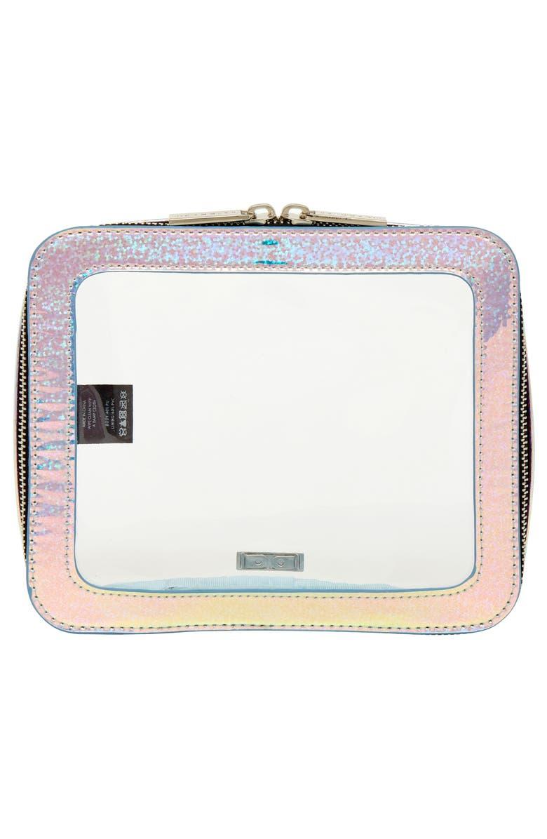 SKINNYDIP Travel Makeup Bag, Main, color, NO COLOR