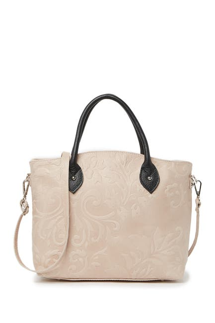 Image of Renata Corsi Embossed Leather Shoulder Bag