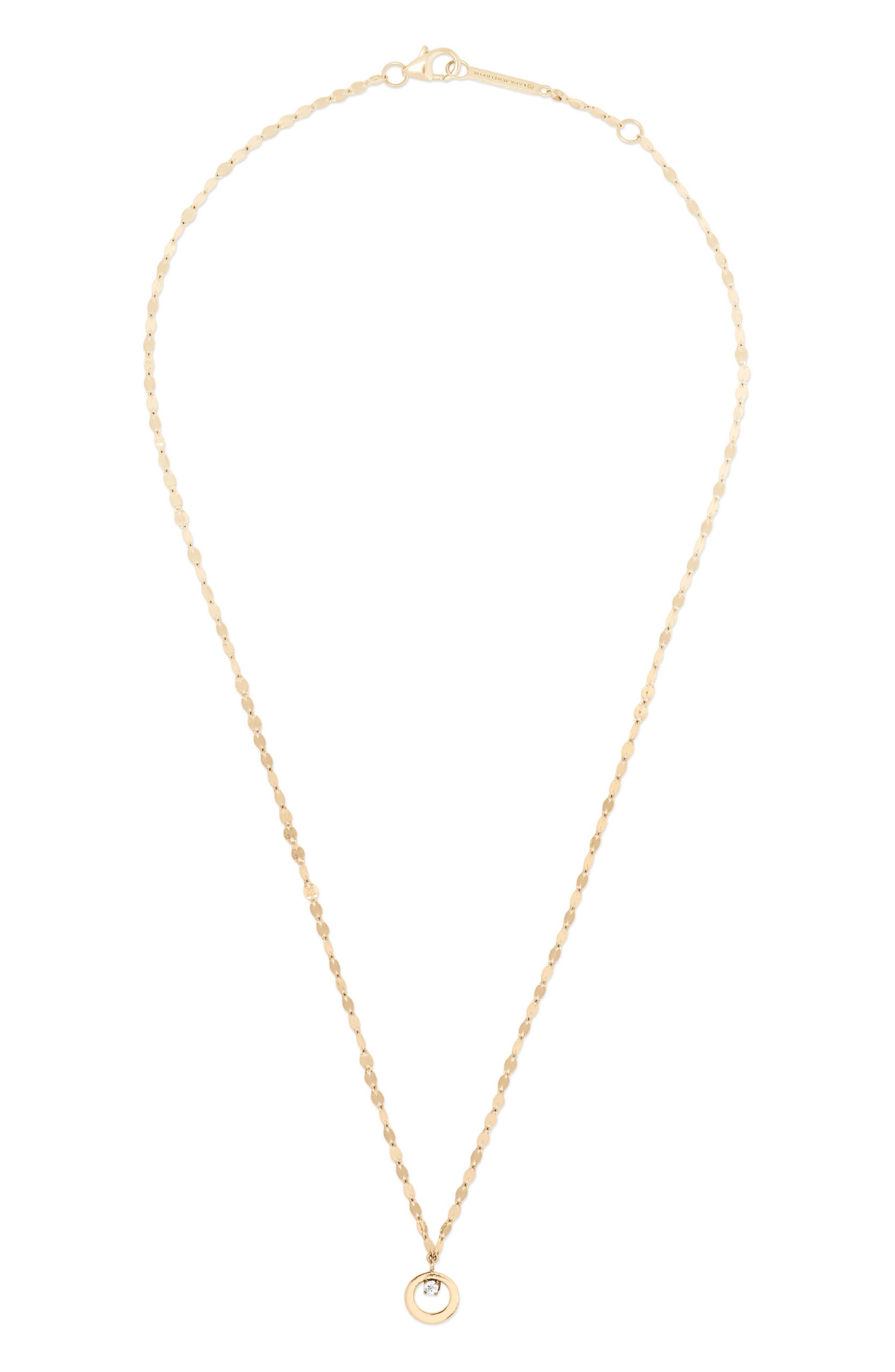 Solo Mini Bond Cusp Pendant Necklace