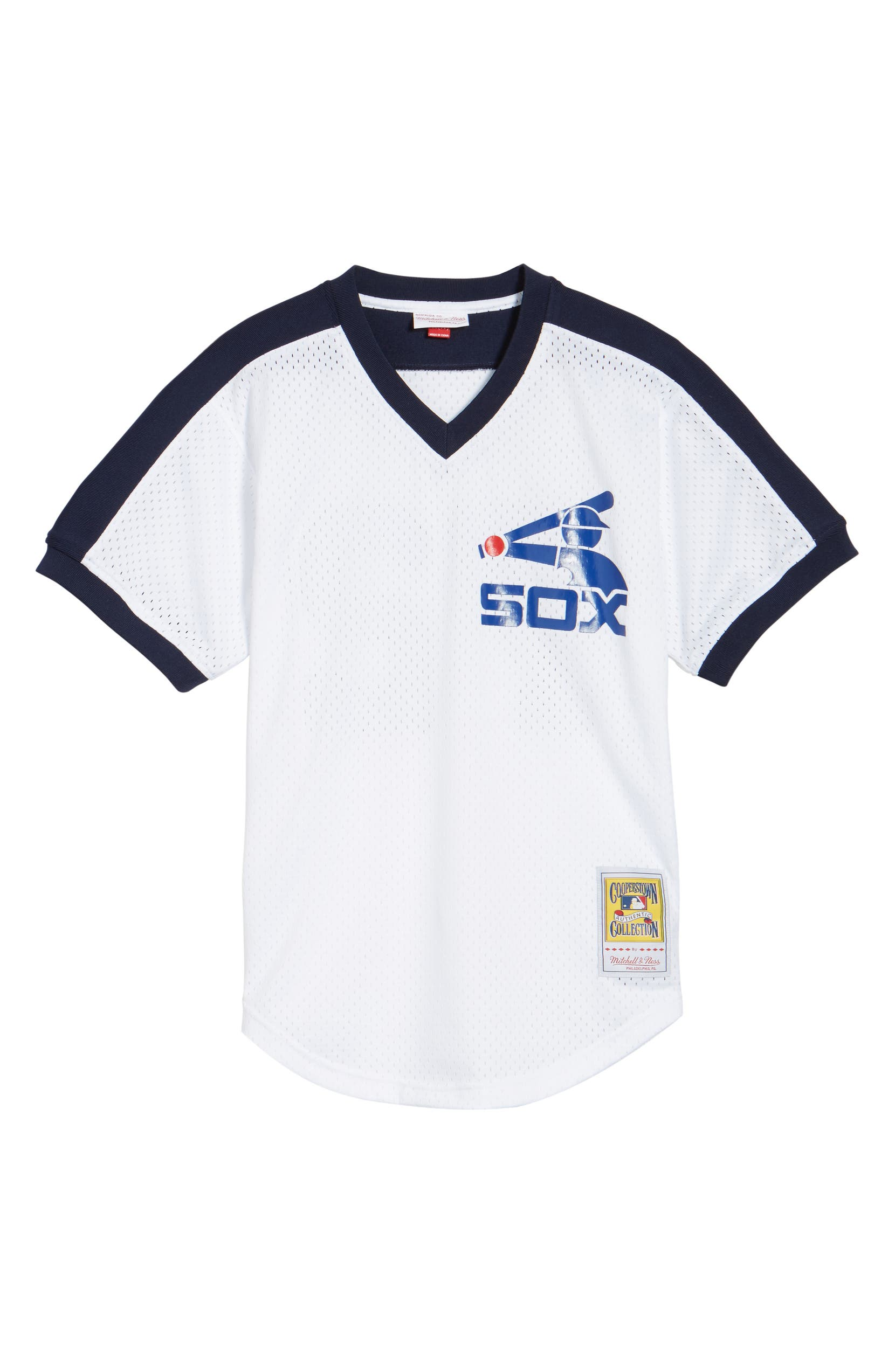 best website ac0e7 7328a Sox White Authentic Mesh Fisk Jersey Carlton Chicago ...