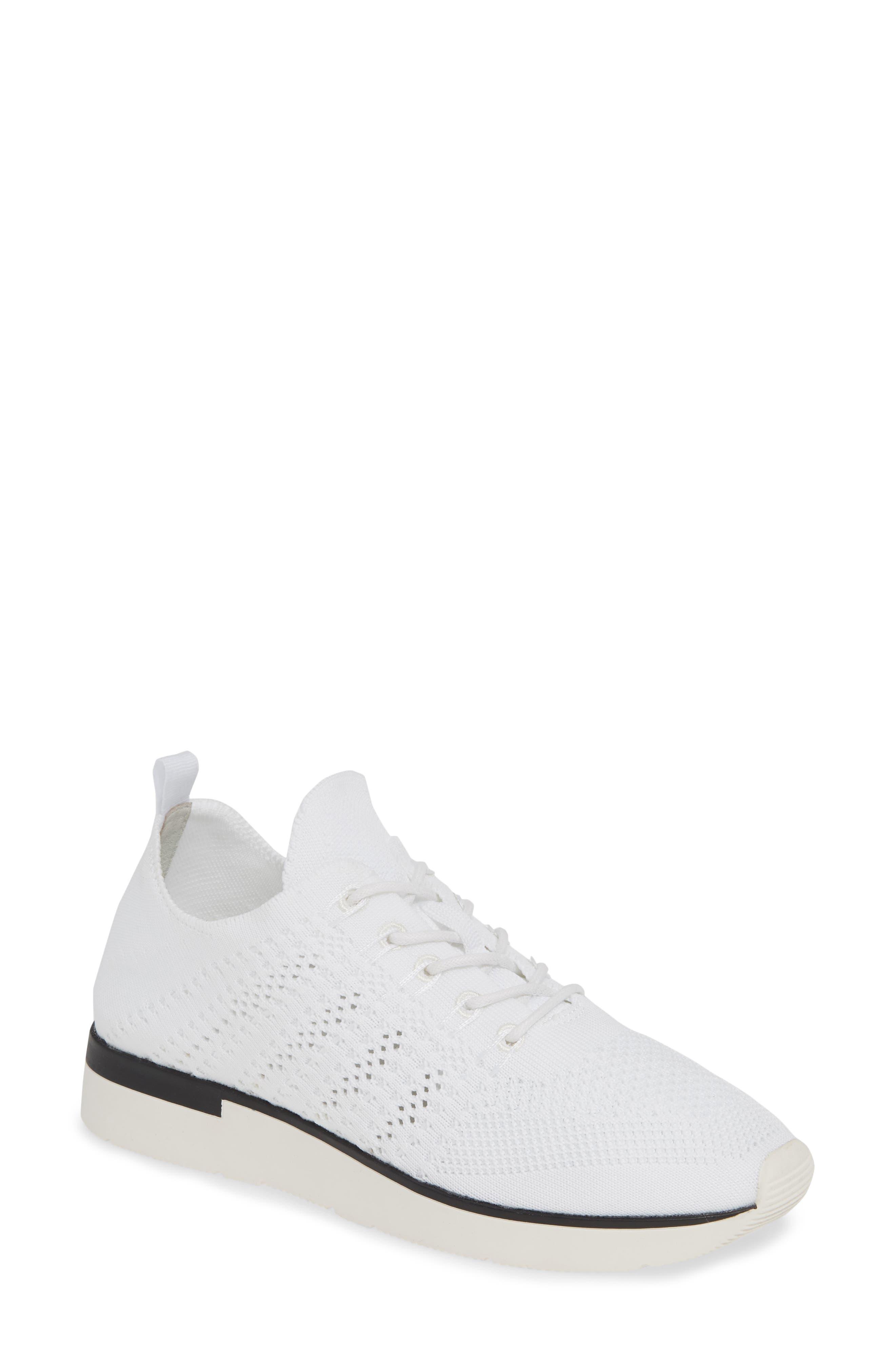 Jslides Gigi Knit Low Top Sneaker, White
