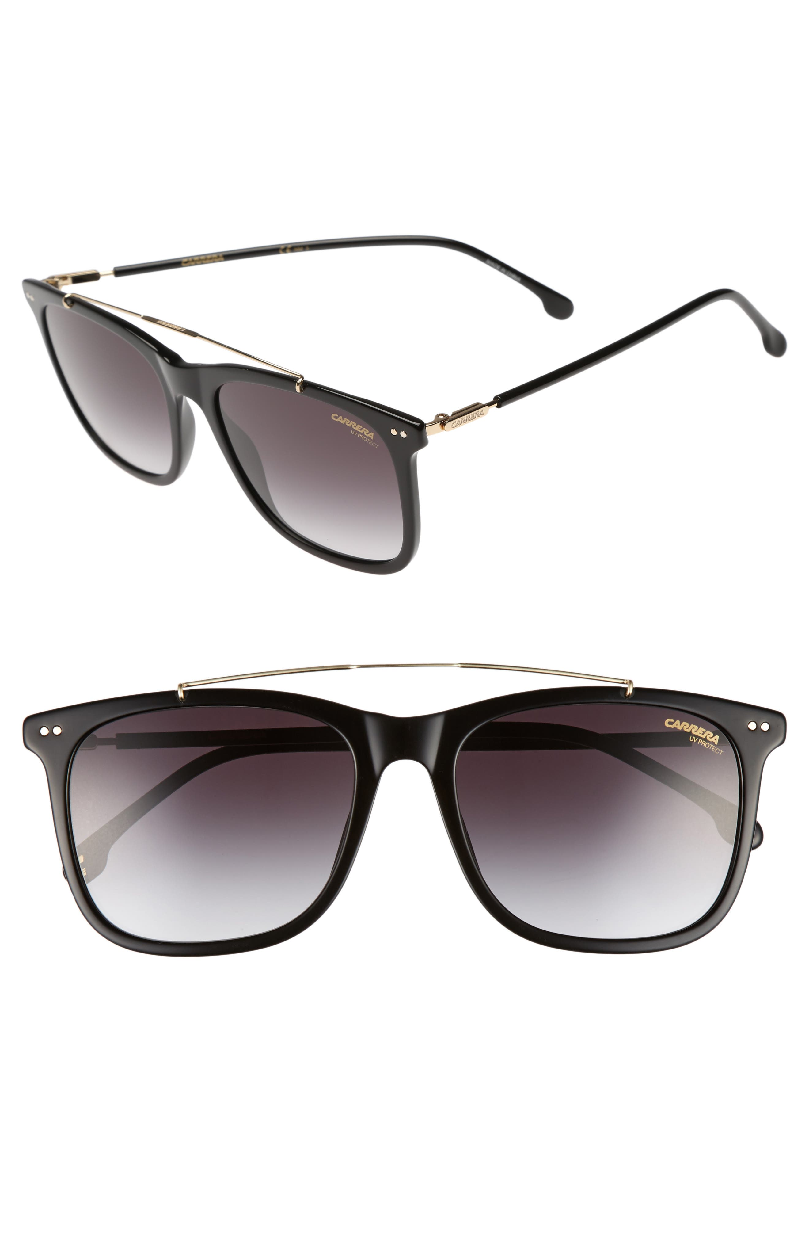 Carrera 150/s 55Mm Sunglasses - Black/ Dark Gray Gradient