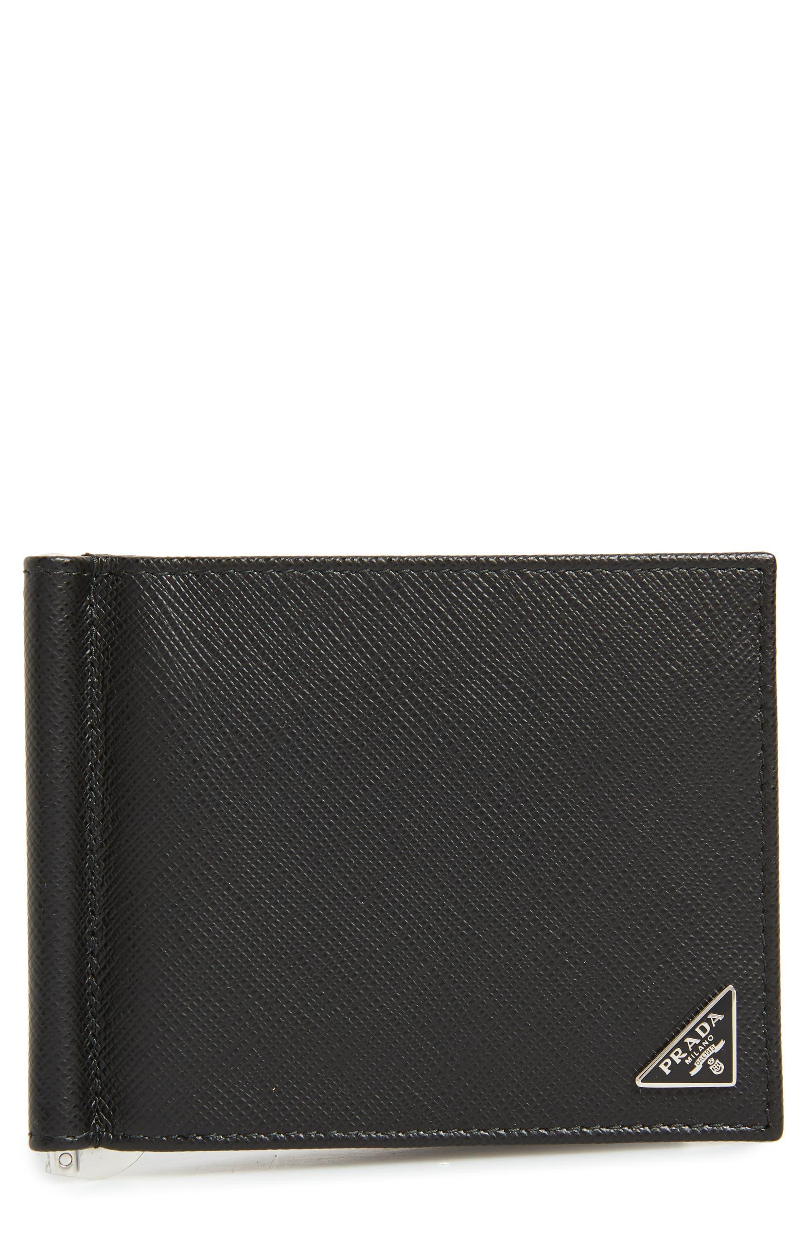 eebd434f91c6 Prada Saffiano Leather Money Clip Wallet   Nordstrom
