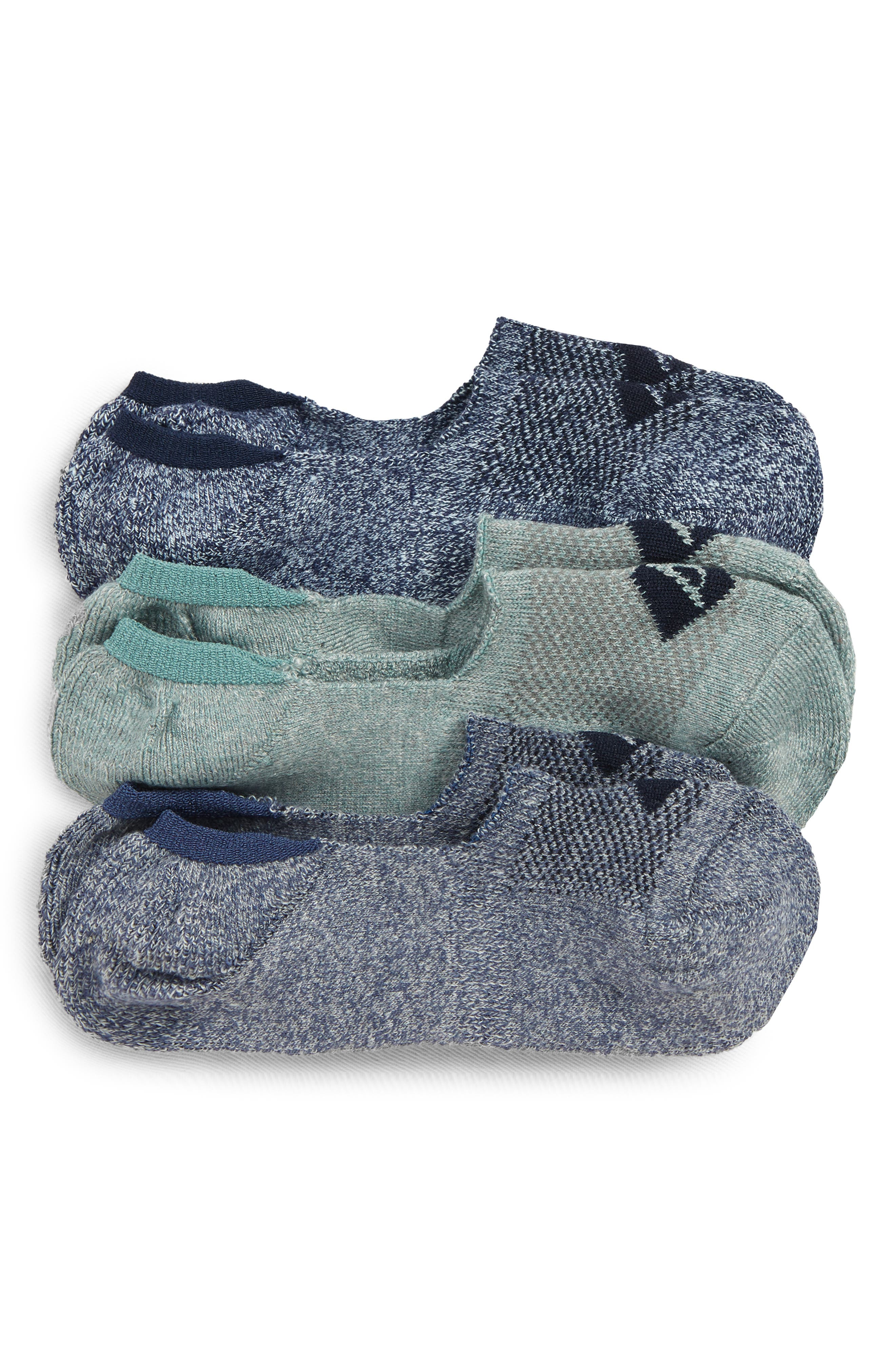 ,                             Top-Sider<sup>®</sup> Repreve Assorted 3-Pack Liner Socks,                             Main thumbnail 1, color,                             NAVY MARL ASST